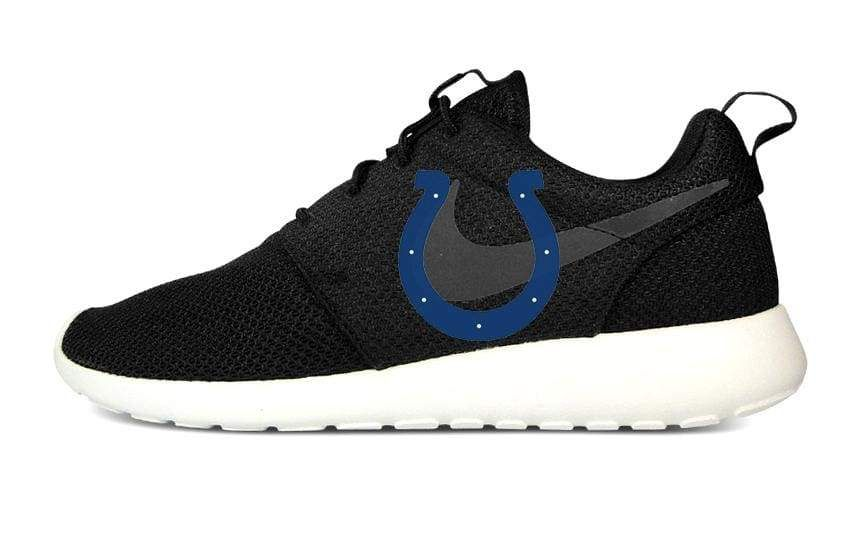 Indianapolis Colts Custom Nike Roshe One Shoes Black Bandana Fever Sneakers Cbssports Sneakerporn S In 2020 Cute Nike Shoes Nike Shoes Outfits Design Nike Shoes