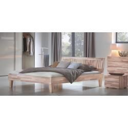 Futon bed  solid wood bed solid pine walnut A10 incl Slatted frame  dimensions 140 x  Hasena solid wooden bed WoodLine Classic 16 headboard Stecca feet Juve HasenaHasena