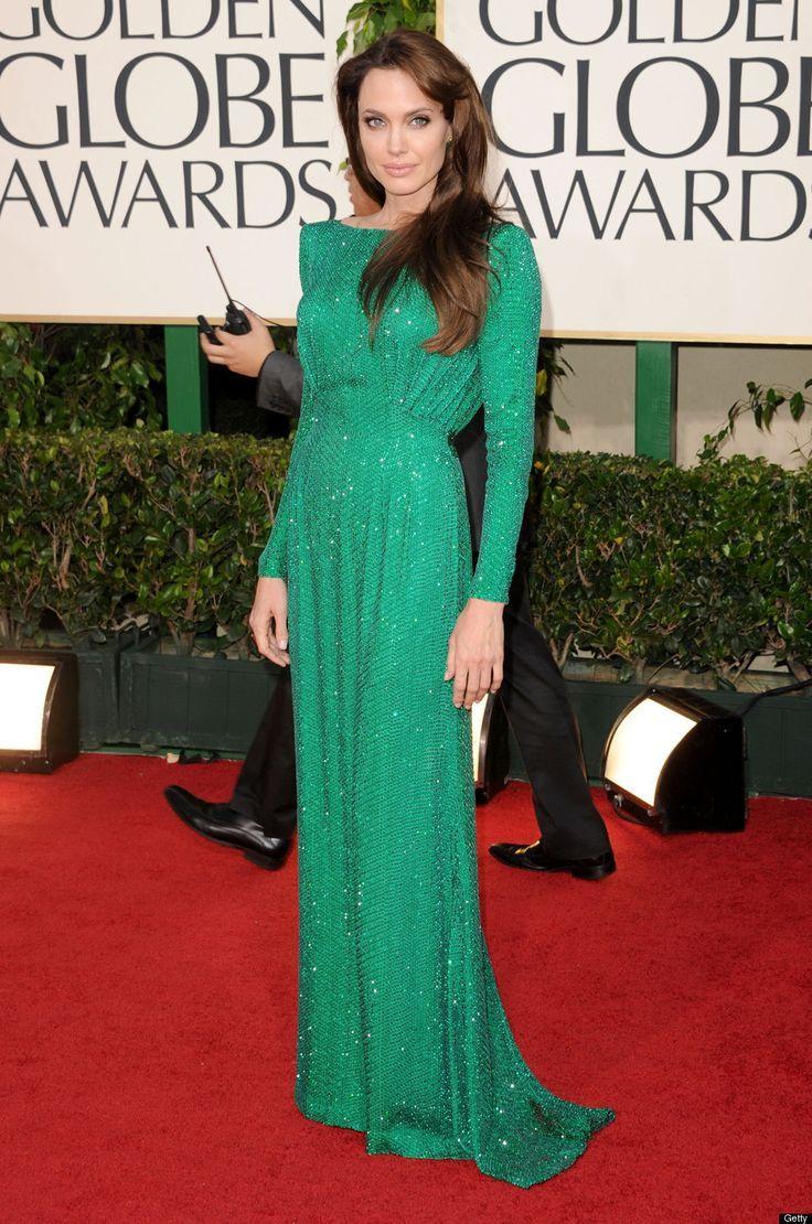 Angelina Jolie in emerald green dress