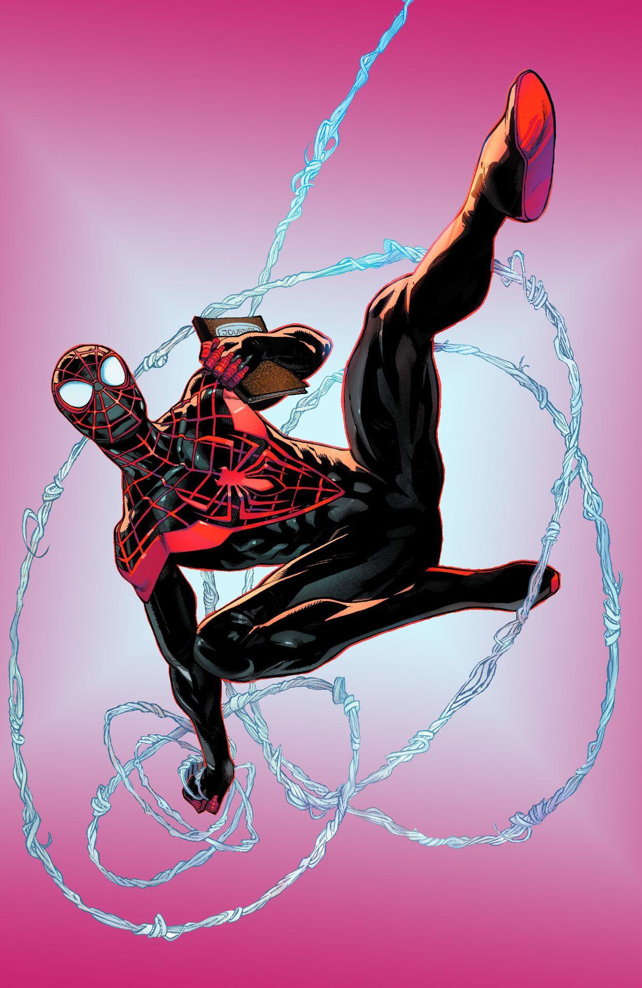 Miles morales is the best spiderman drawing spiderman