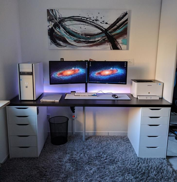 15 Awesome Home Office Designs To Boost Your Productivity: University Battlestation - December 2016 Upgrade