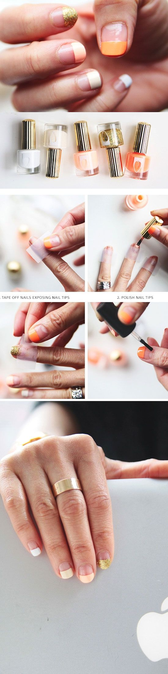 24 Easy Spring Nail Designs for Short Nails | Pinterest | Ombre ...