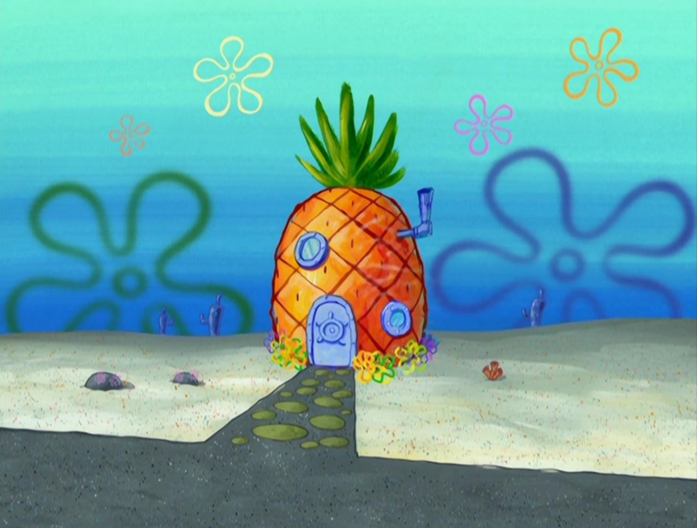 Pineapple House for SpongeBob | Spongebob wallpaper, Spongebob house, Wall  painting