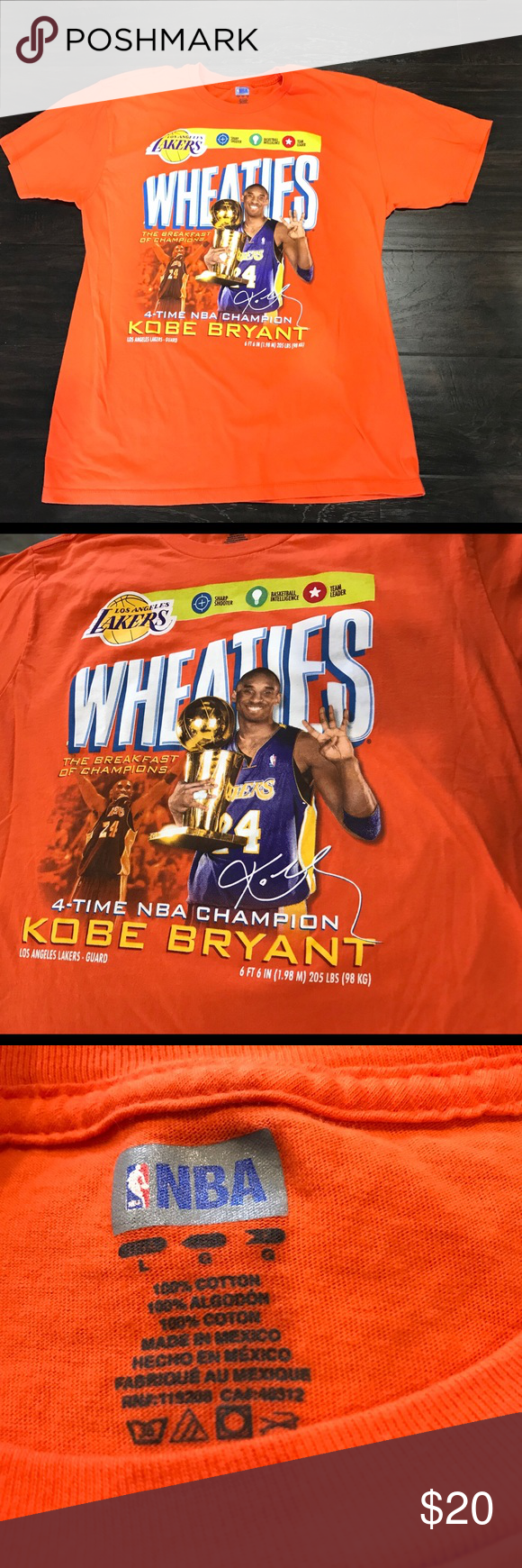 Kobe Bryant Wheaties shirt Known as one of the greatest
