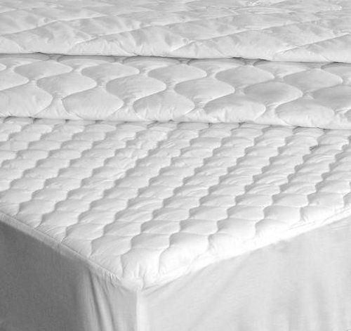 Down Etc Full 200 Thread Count Fitted Mattress Pad, White by Down Etc. $86.20. 5.5-Ounce of polyester fill per square yard. Mattress Pad measures 54 x 76-inch, fits up to 16-inch mattress height. Fitted skirt with elastic band. 65-Percent Polyester, 35-Percent Cotton. 65% polyester; 35% cotton. Quilted stitch. At Down Etc we believe luxury is the best of comfort and quality in unison. Our team is devoted to providing a great night's sleep for you, your family and guests. We ...