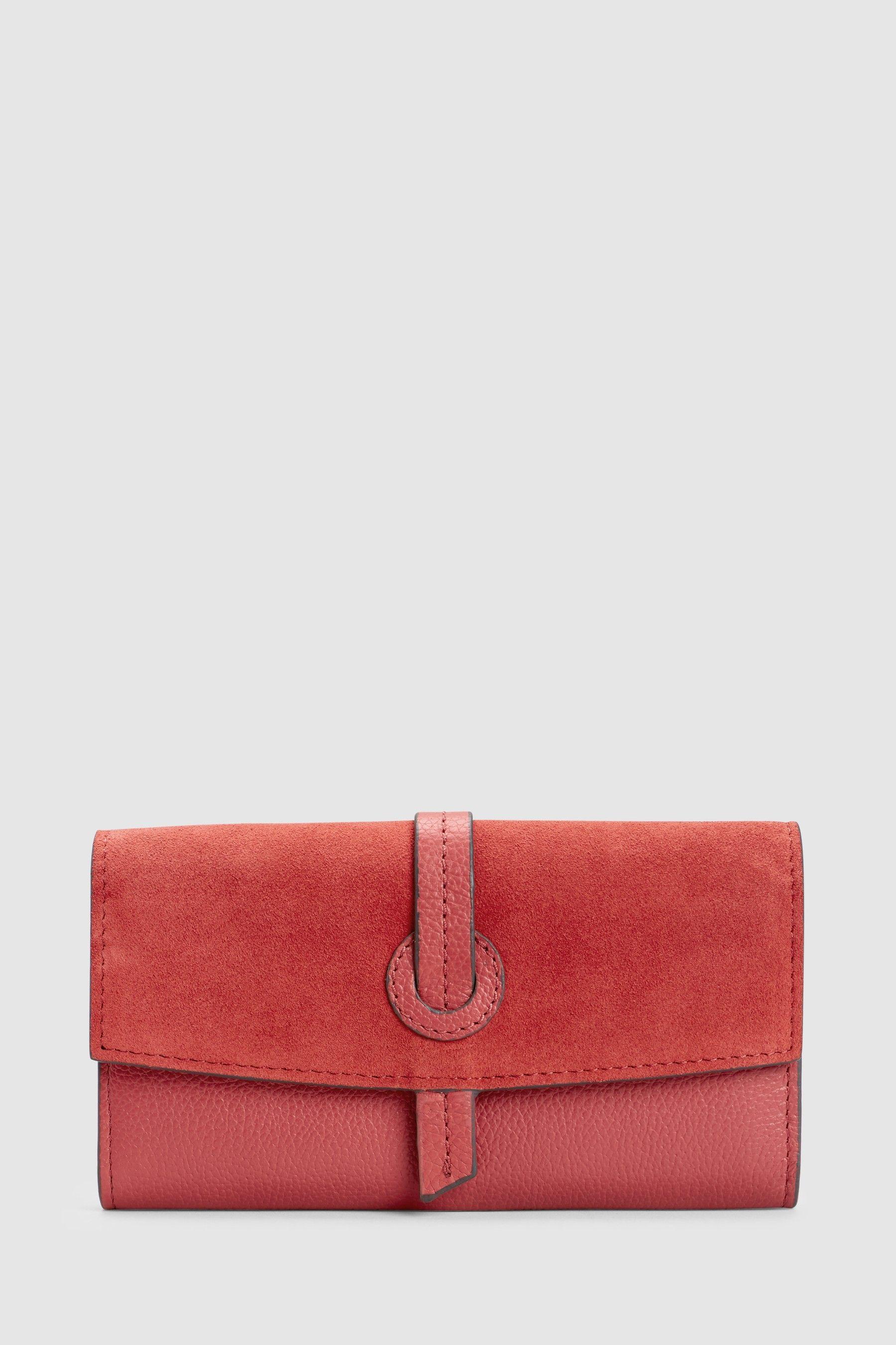74a525e27e9e Womens Next Raspberry Leather Fold-Over Purse - Pink  pursesnext ...