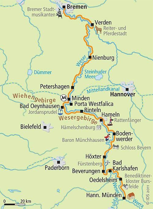 Radweg Weser Fahrradurlaub Fahrradtour Camper Leben