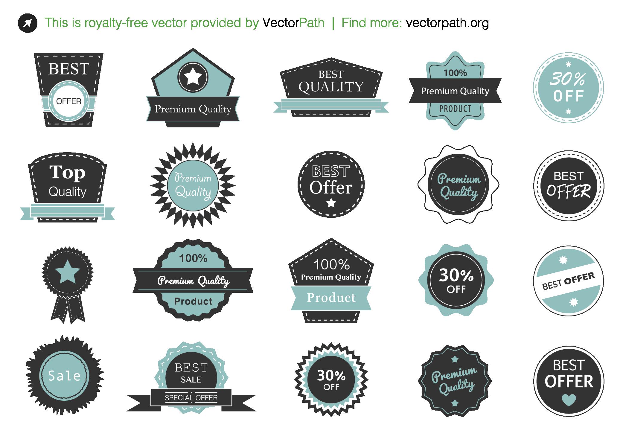 Royalty-free ribbons & labels vector set! Visit & download