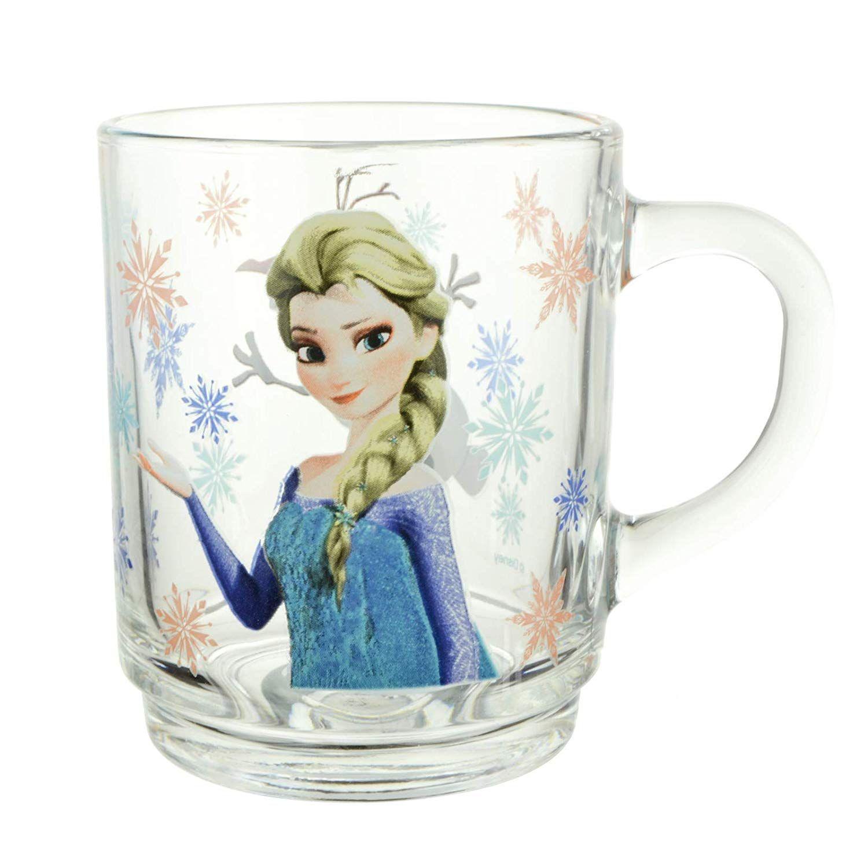 Luminarc Disney Frozen Elsa Olaf Tasse Fur Kinder Madchen Trinkbecher Becher Geschirr Glaser Henkel Teeglaser Schlagfestigkeit 2 Mugs Glassware Tableware