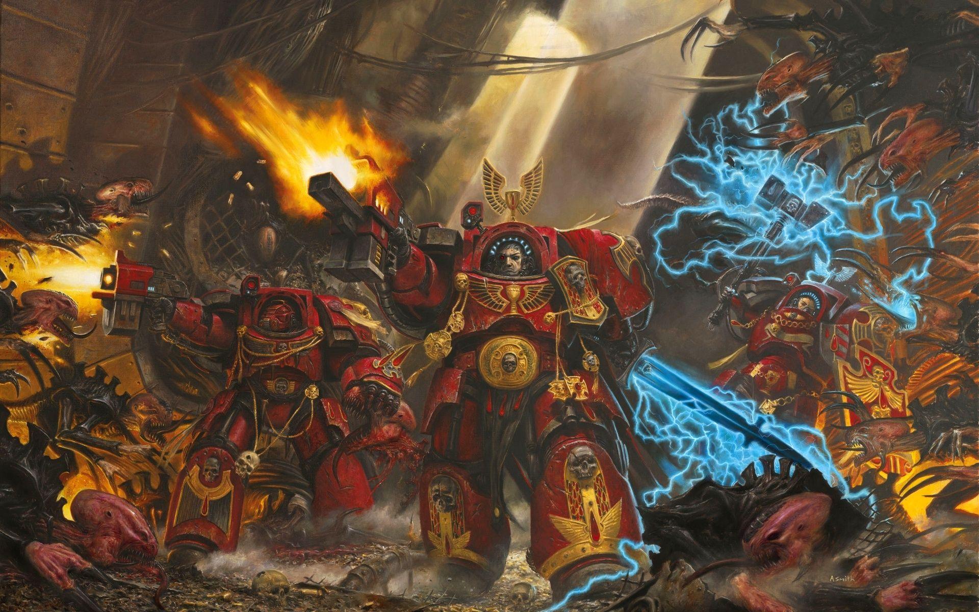 Fighting The Tyranids Kriegshammer Warhammer 40k Space Marine