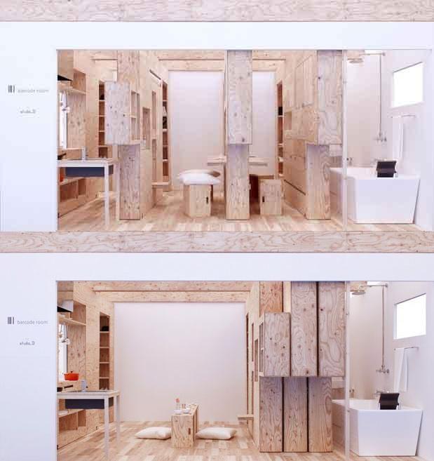 Studio 01, Barcode Room   legno naturale non trattato con nodi e - holzbank für küche