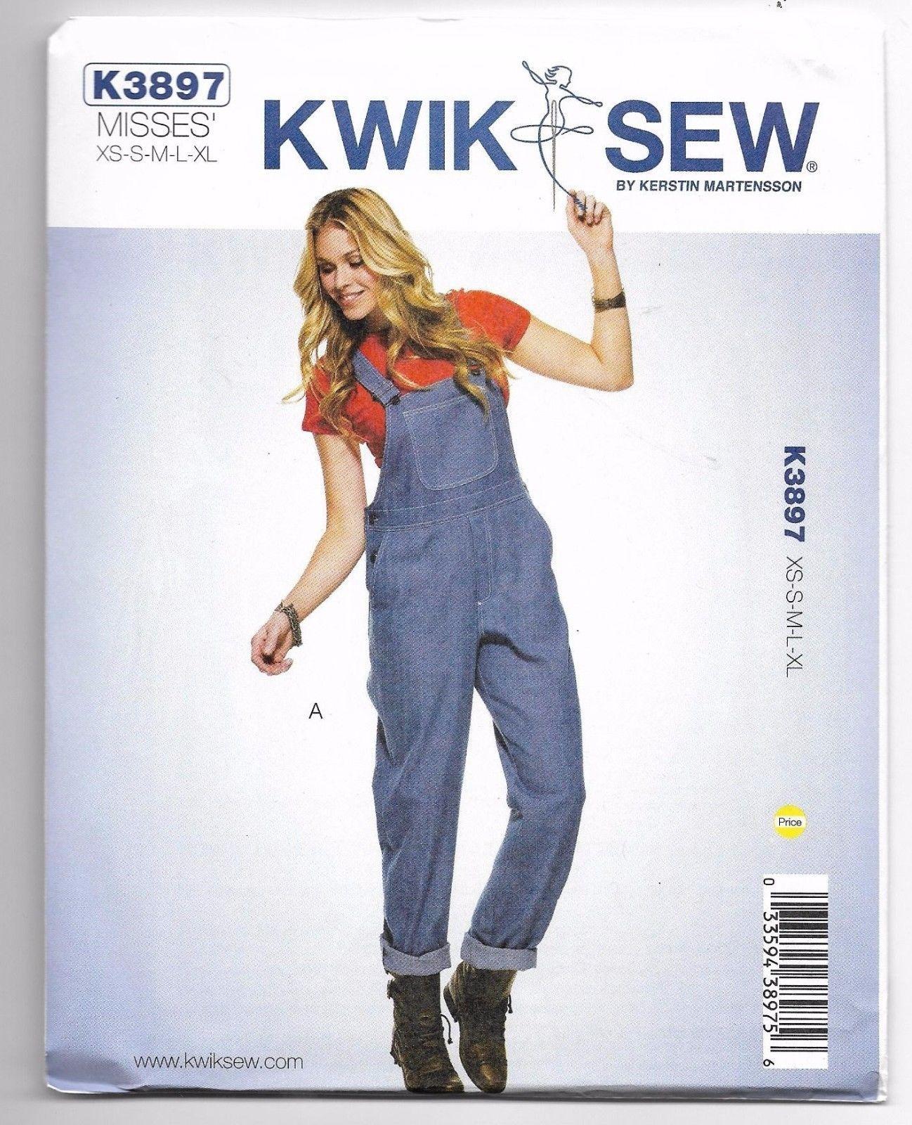 K3897 Kwik Sew Overalls Sewing Pattern Sizes XS-S-M-L-XL