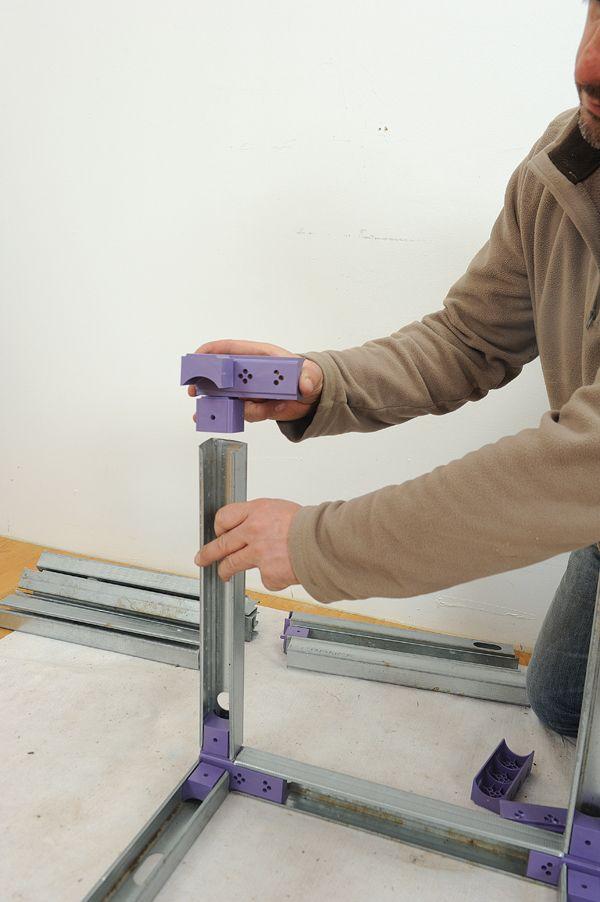 Meuble placo 14 bricolage et diy mobilier de salon plaque de platre et plafond design - Meuble tv cloison ...
