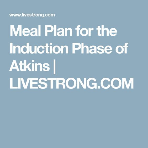 Meal Plan for the Induction Phase of Atkins #atkinsmeals