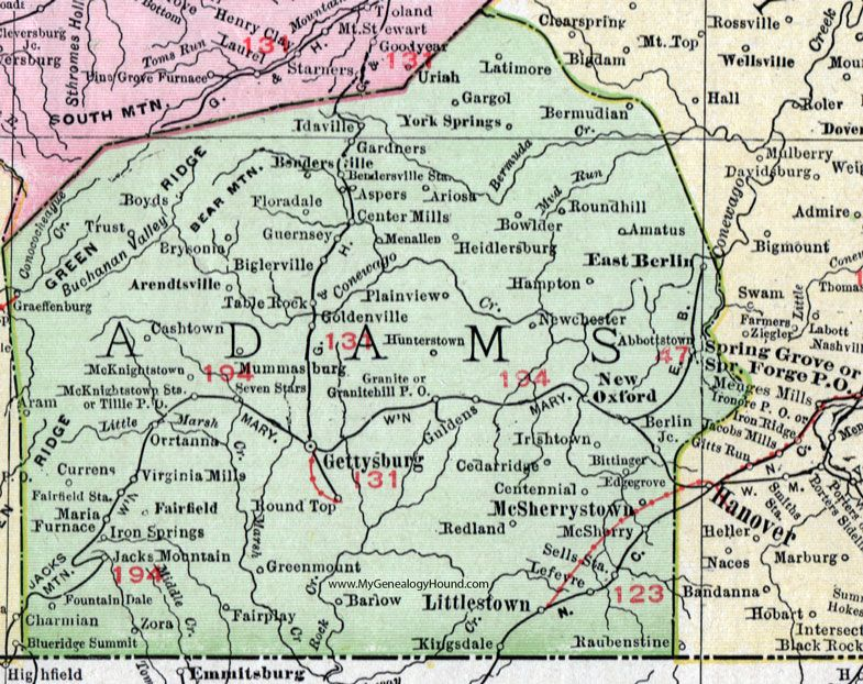 Adams County, Pennsylvania, 1911, Map, Gettysburg ... on map of king of prussia pa, map of mahaffey pa, map of narberth pa, map of mount holly springs pa, map of pitman pa, map of mount union pa, map of washington pa, map of franklin township pa, map of lake heritage pa, map of union township pa, map of philadelphia pa, map of hooversville pa, map of media pa, map of mt joy pa, map of mt gretna pa, map of lewis run pa, map of central york pa, map of northumberland pa, map of orrstown pa, map of newry pa,