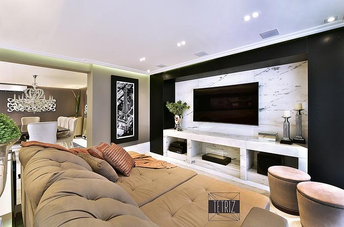Projeto de decoração de interiores para apto de 285m² na Mooca