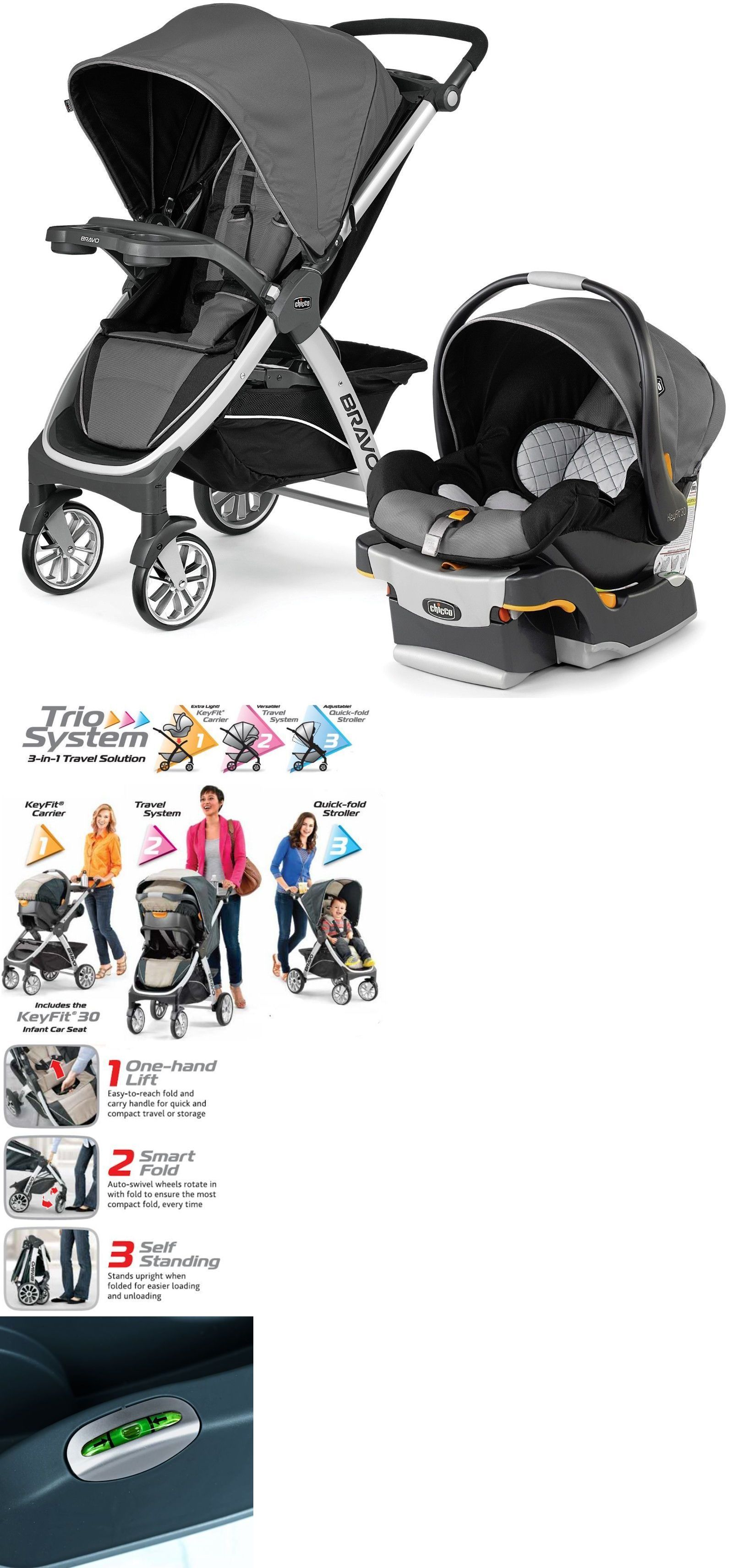 Other Stroller Accessories Chicco Bravo Trio 3 In 1 Baby Travel System