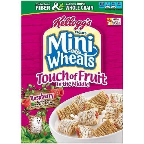 Kellogg'S Frosted Mini Wheats Touch Of Fruit Raspberry