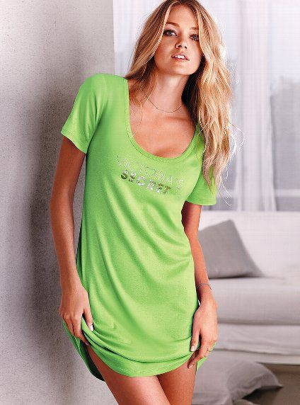 Green scoopneck sleepshirt - by Victoria s Secret  eafc062d7