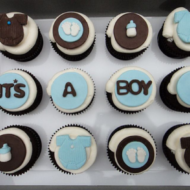Boy Cupcake Ideas : It s a boy cupcake idea Cupcake ideas Pinterest Its ...