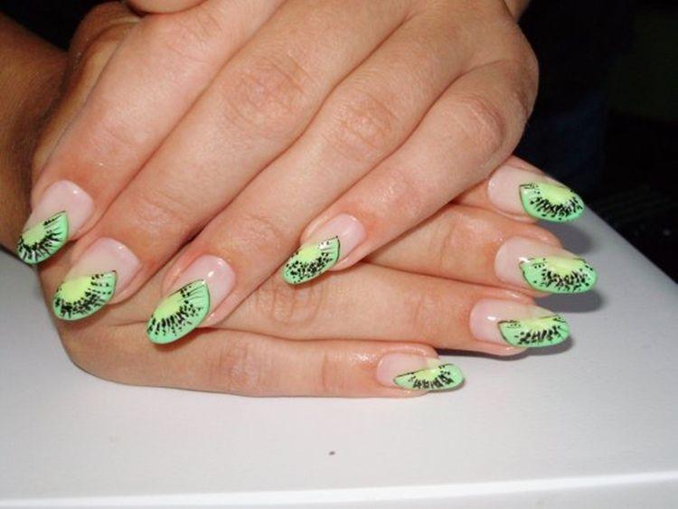 Kiwi new nail art | nail art | Pinterest