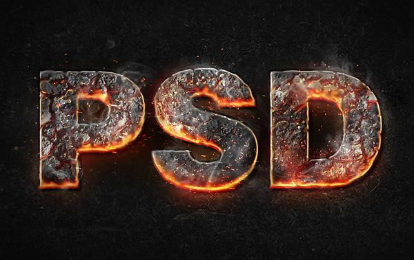 Flame and Fire Text Photoshop Tutorials | Polygraphy | Photoshop