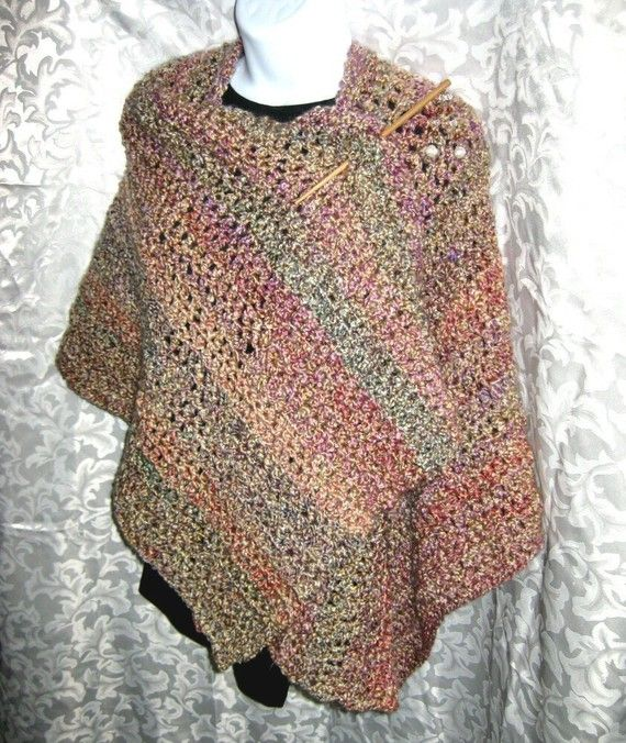 Ruana Wrap or Blanket Shawl PDF Crochet Pattern Your by crochetgal ...