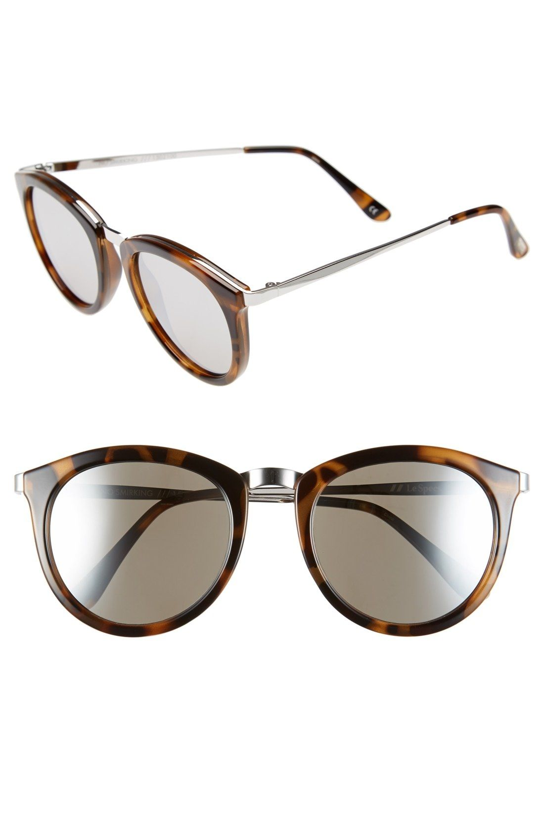 7f6ec2befe573 Le Specs  No Smirking  50mm Round Sunglasses available at  Nordstrom ...