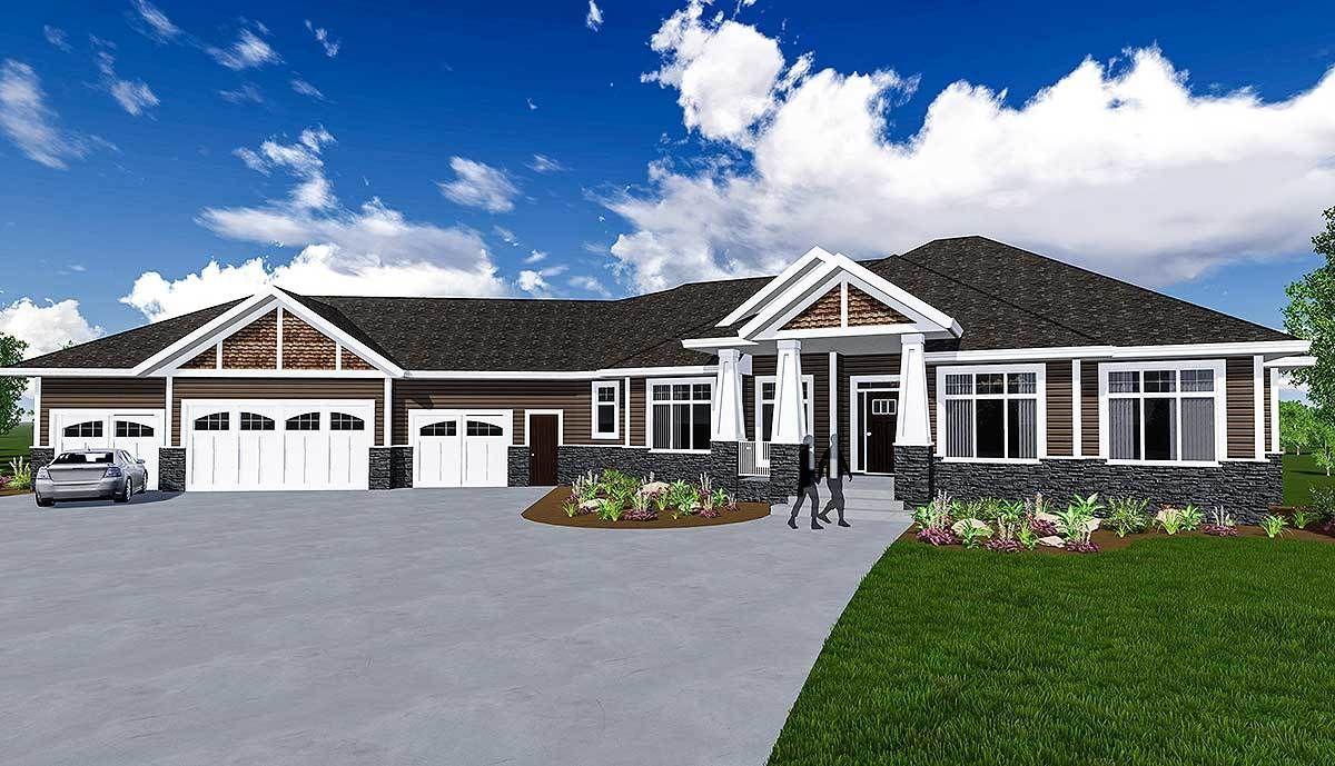 Plan 81660AB Craftsman House Plan with 3