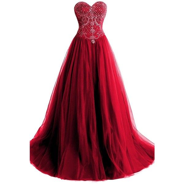 ORIENT BRIDE New Beaded Red Prom Evening Dress Crystals (€115) ❤ liked on Polyvore featuring dresses, prom dresses, red prom dresses, beaded bridal dresses, bridal prom dresses and bridal dresses