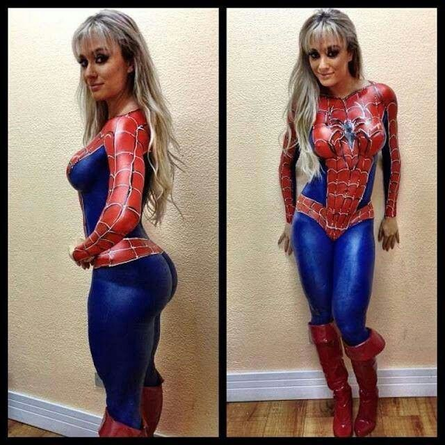 Sexy spider man costume