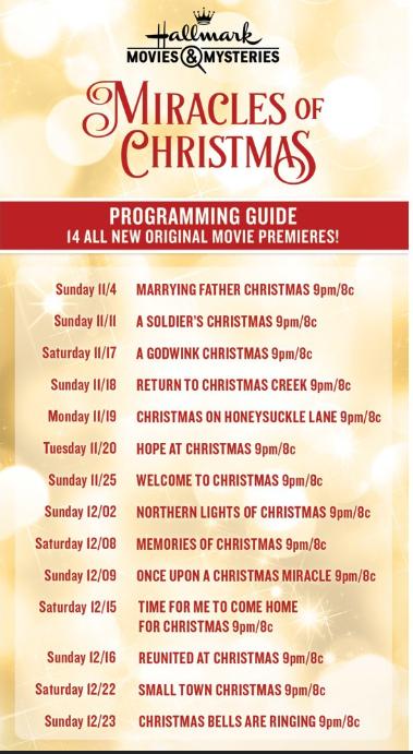 36 New Hallmark Christmas Movies Coming Your Way
