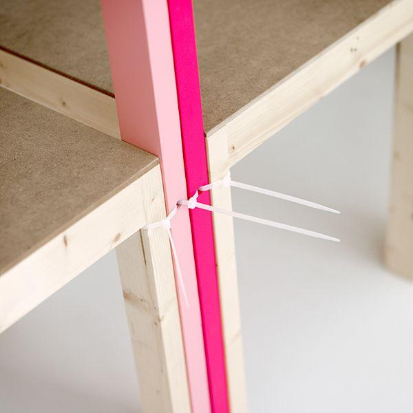 Latten Shelving System on Furniture Served