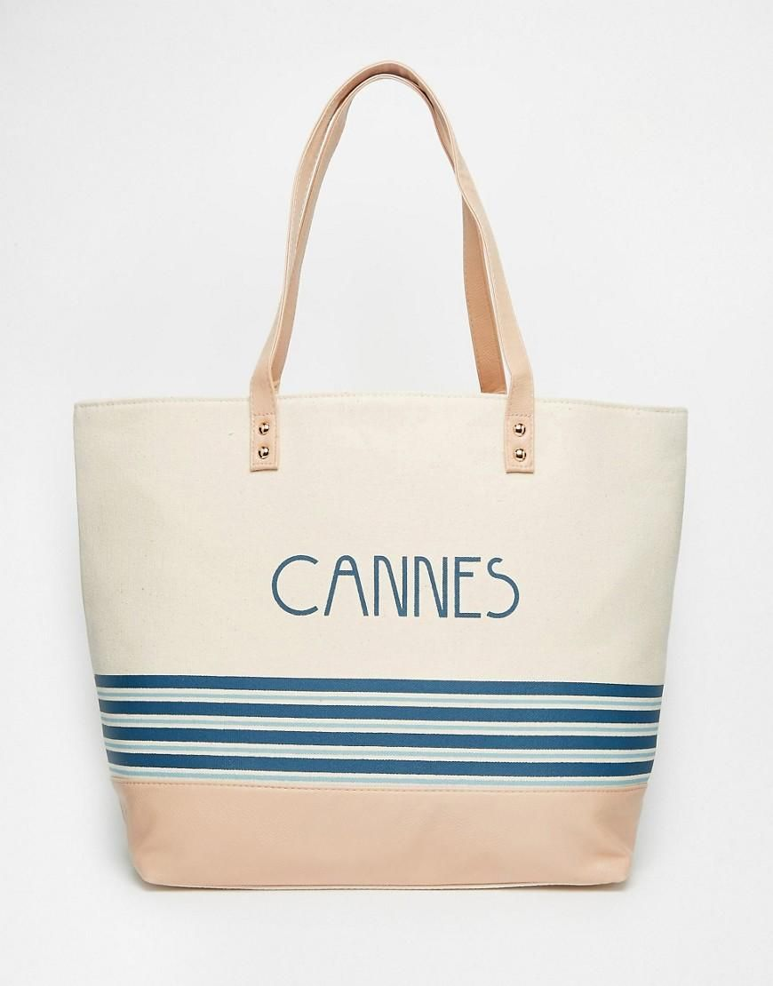 Thursday Friday | Bolso de playa de lona Cannes de Thursday Friday en ASOS