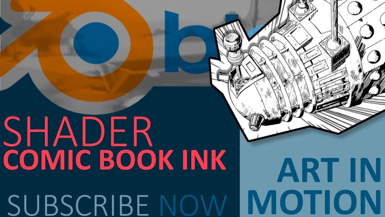Blender Tutorial : Comic book/ Manga ink shader | Blender in