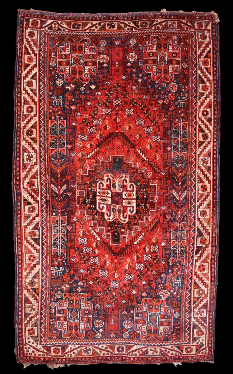 Tapis Persan Ghashghai Iran 125 Cm X 217 Cm Laine Sur Laine Nouee Main Vers 1900 Winstein Proantic Tapis Tapis Persan Persan