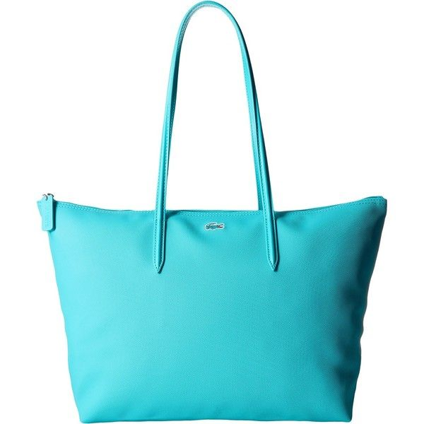 Lacoste L.12.12 Concept Large Shopping Bag (Peacock Blue) Tote ...