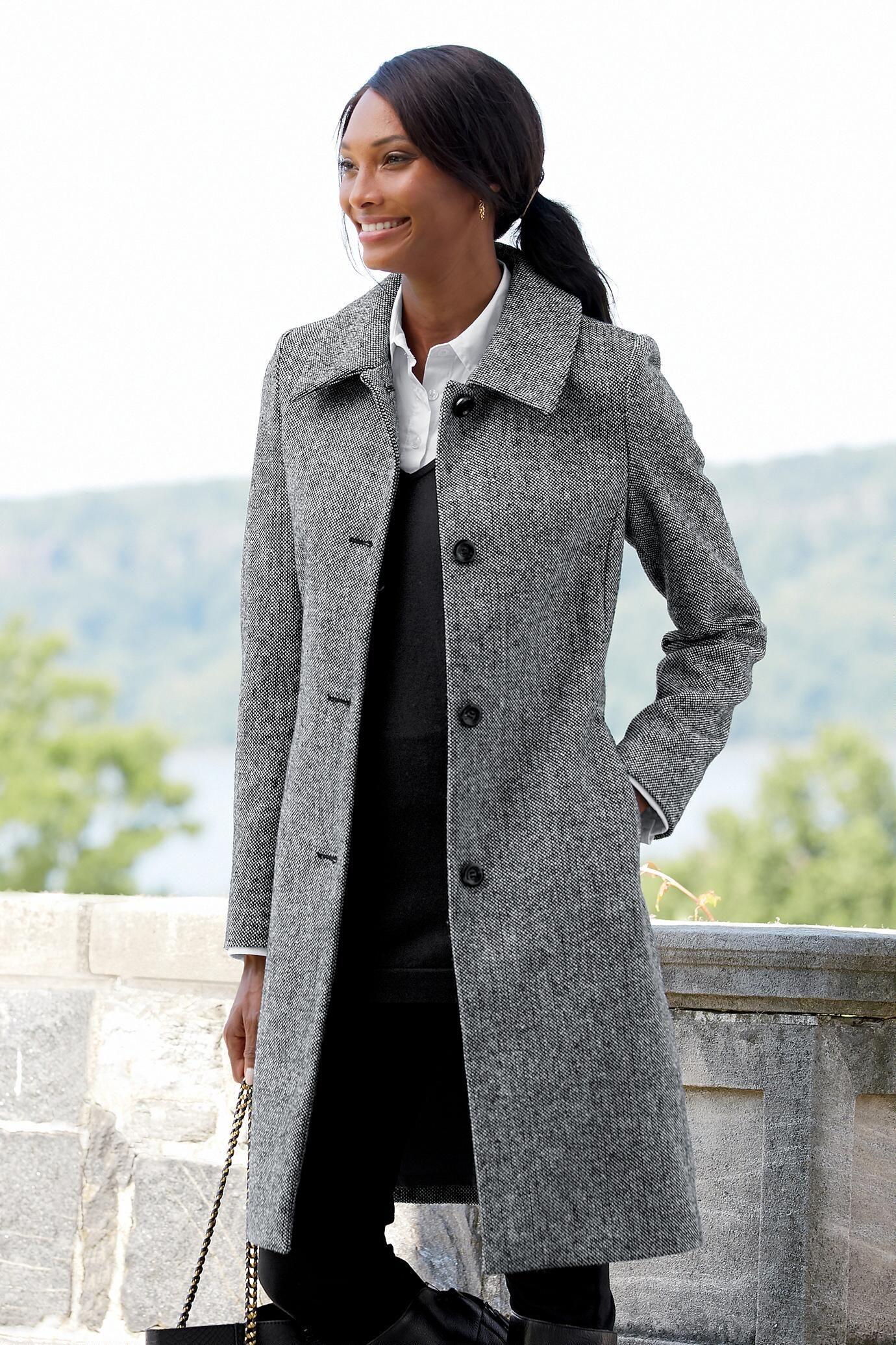 Anastasia Black Women/'s Wool Winter Coat