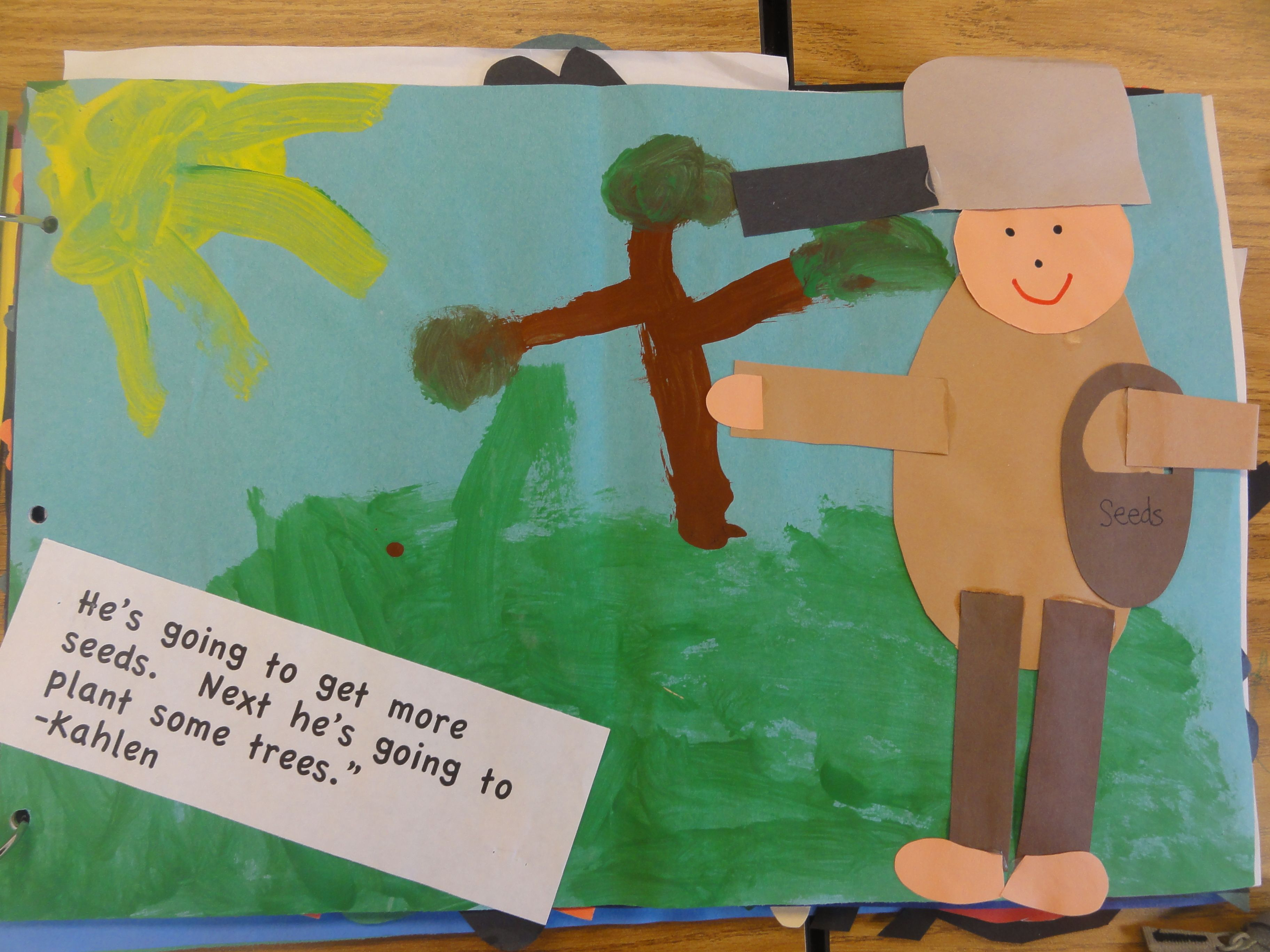 During Apple Unit Students Made Johnny Appleseed