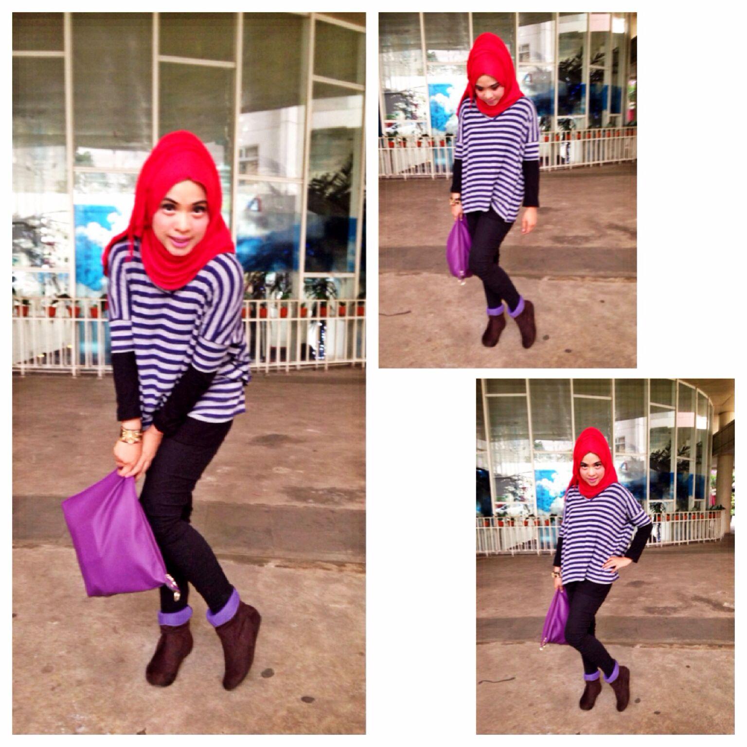 outfit hijab sederhana casual