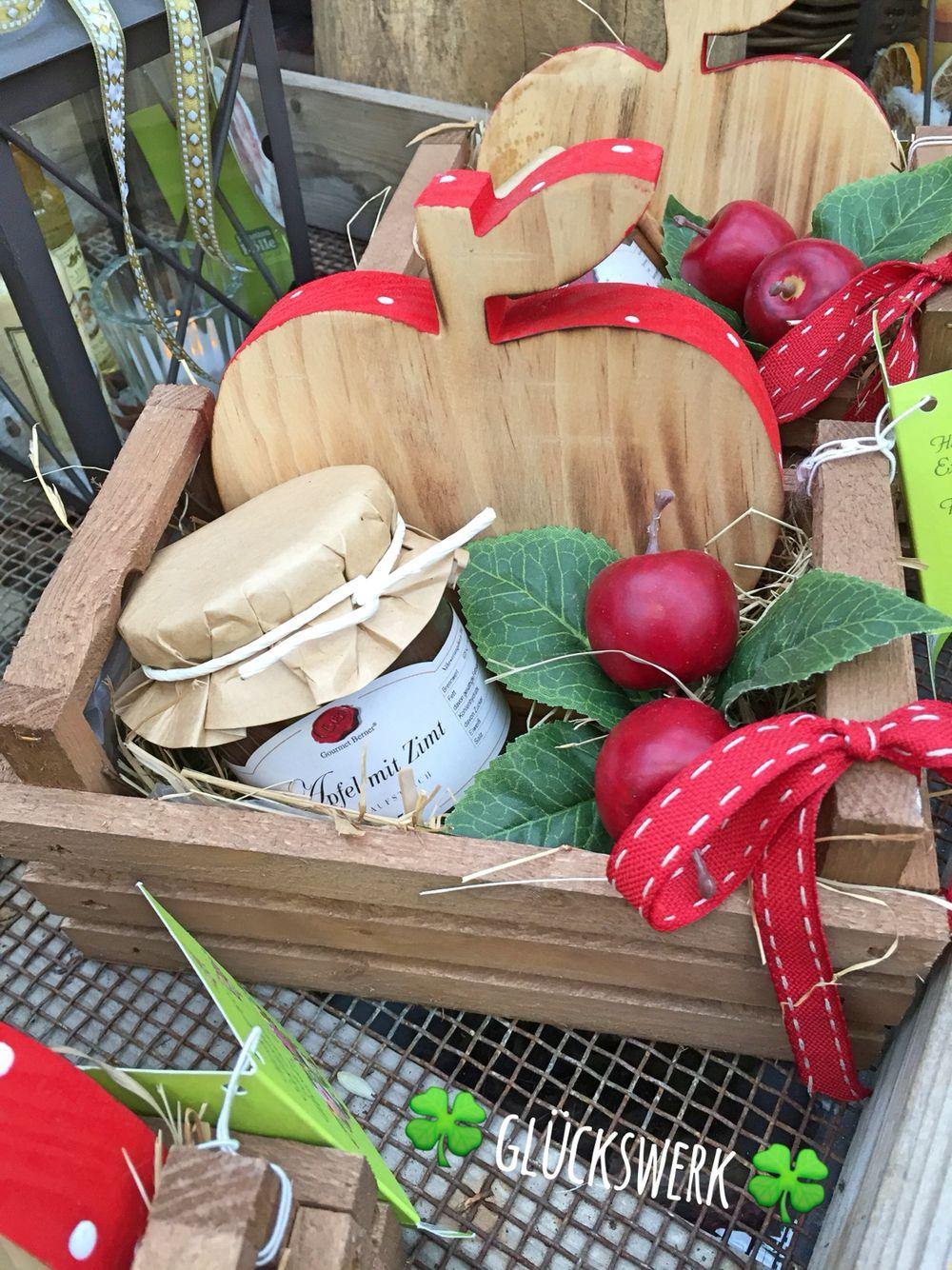 Alles Apfel - bezaubernder Geschenke-Korb mit Biss! www.glueckswerk-magazin.de