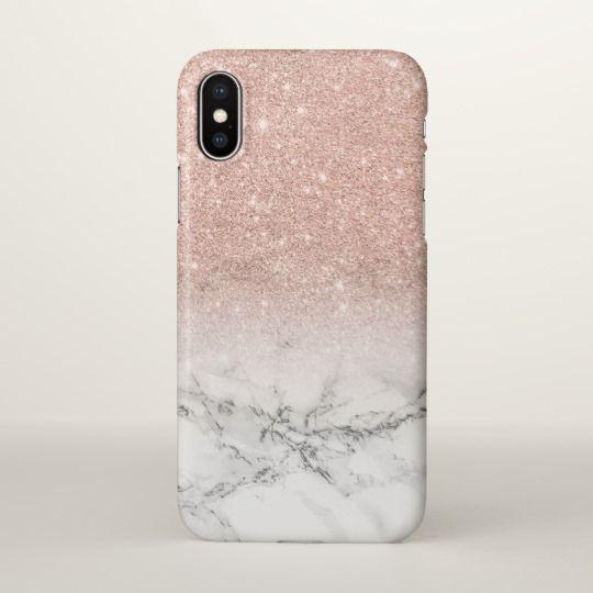 Modern Faux Rose Pink Glitter Ombre White Marble Iphone Case Zazzle Com Glitter Iphone 6 Case Marble Iphone Case Marble Iphone Case White
