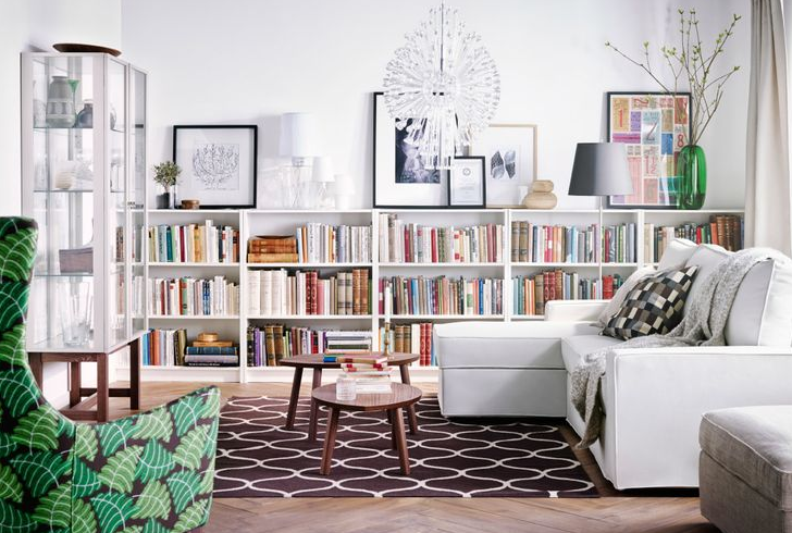Thinking About Low Bookshelves Ikea Living Room Home Living