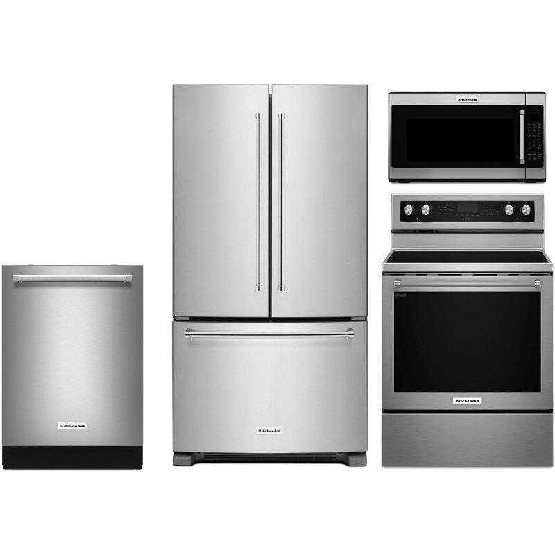 Kitcheaid 4 Piece Kitchen Appliance Package With Electric Range Stainless Steel Products In 2019 Kitchen Appliance Packages Kitchenaid Dishwasher Built In Dishwasher