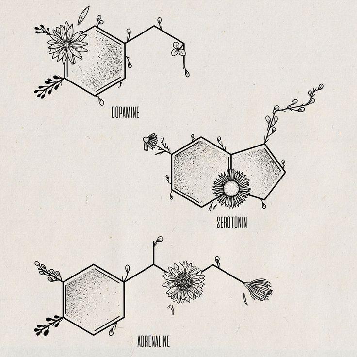 Chemical tattoo tattoo sketch serotonin tattoo dopamine tattoo ... -  Chemical tattoo tattoo sketch