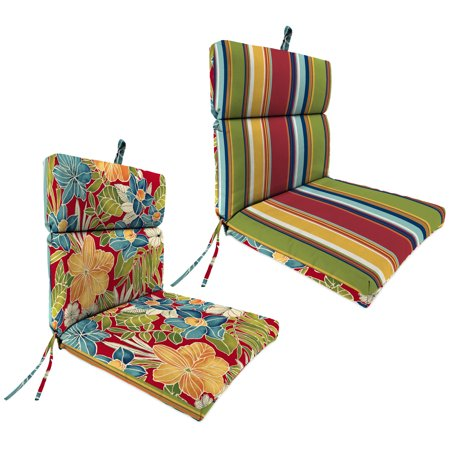 Outdoor 22 Inch X 44 Inch X 4 Inch Chair Cushion Multicolor