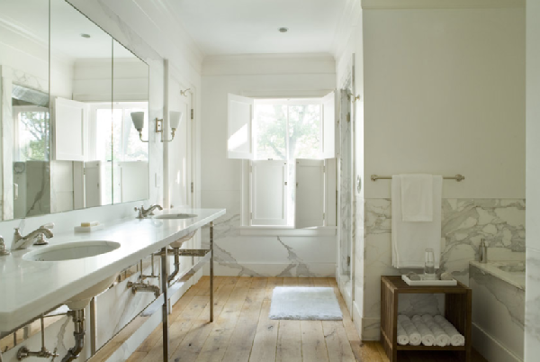 bathroom designs - White Rustic Bathroom