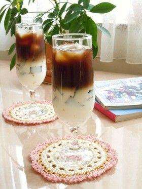 コーヒーゼリー入り アイスカフェオレ By Mikeneko288 レシピ コーヒーゼリー カフェ ゼリー
