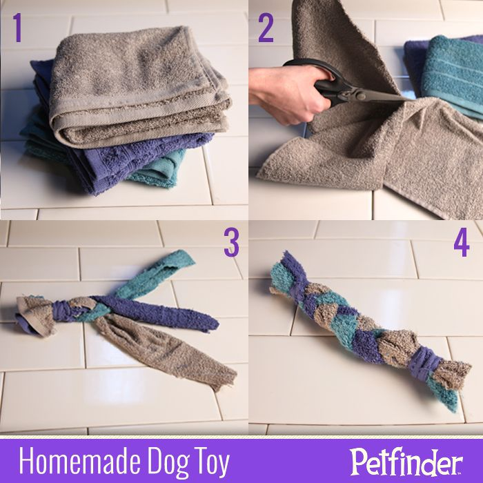 Make Dog Tug Toy: Have Any Old Towels Lying Around? They'll Make A Perfect