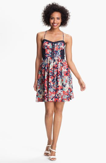Betsey Johnson Floral Fit & Flare Dress available at Nordstrom | If ...